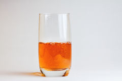 Glass of beer. On white background Stock Image