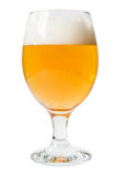 Glass of beer on a white background stock photo