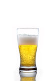 Glass of beer on white background Royalty Free Stock Photo