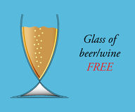Glass of beer/wine Royalty Free Stock Photo