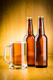 Glass beer. Glass beer on wood background Stock Images