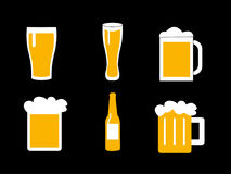 Glass of beers. Vector illustration of a glass of beers Royalty Free Stock Images