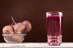 Glass of beet juice Stock Image