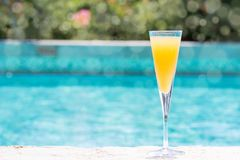 Glass of Bellini Stock Photos