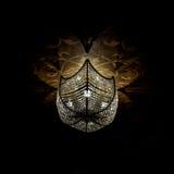 Glass belysningfast tillbehör på ett tak Arkivfoton
