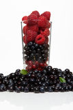 Glass with berries Royalty Free Stock Images