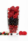 Glass with berries Royalty Free Stock Photography