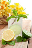 Glass of beverage Stock Photo