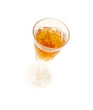 Glass of beverage Stock Image