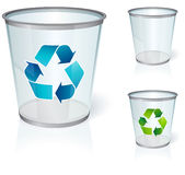 Glass bin. With transparency look stock illustration