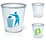 Glass bin Royalty Free Stock Image