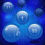 Glass bingo lottery balls Stock Image