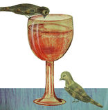 Glass and birds Royalty Free Stock Photography