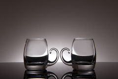 Glass on a black background Royalty Free Stock Photo