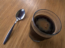 Glass of black coffee Royalty Free Stock Images