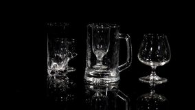 Glass On Black stock footage