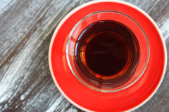 A glass of black tea Stock Image