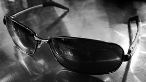 Glass. Black and white, art, closeup Stock Photography