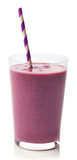 Glass of blackberry smoothie stock photography
