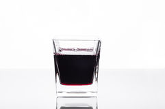 Glass of blackcurrant juice stock image