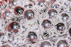 Glass blank balls figures in a process of manufactoring. Glass blank balls figures in a process of manufacturing in cristmas toys factory royalty free stock images