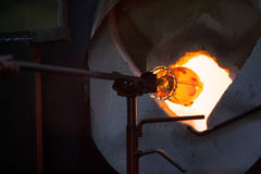 Glass in Blast Furnace Stock Photo