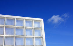 Glass block. With blue sky Stock Photo