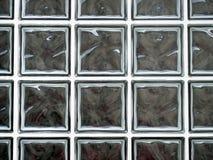 Glass block double glazed window, grid. Stock Photo