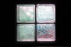 Glass block for lighting in the room . Royalty Free Stock Image