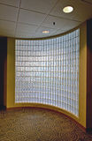 Glass block office wall Royalty Free Stock Images