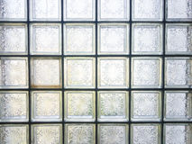 Glass block. Pattern of glass block wall Royalty Free Stock Image