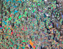 The glass block reflection. bubble in the glass block. Stock Photos