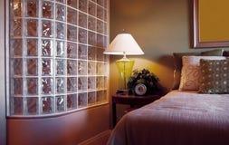 Glass block shower brick wall divider Stock Photo