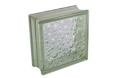 Glass block for showers and walls Royalty Free Stock Image