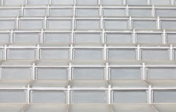 Glass block stairs. Close - up glass block stairs at modern building Stock Photography