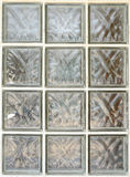 Glass block or tiled mosaic wall Royalty Free Stock Photos