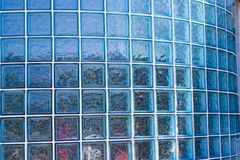 Glass Block Wall. A modern two story professional building with front rounded walls made of glass blocks Stock Photography