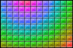 Glass Block Wall. Color Pattern of Glass Block Wall. Uneven diffuse lighting version. Design component Royalty Free Stock Photos