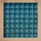 Glass block wall Stock Photos