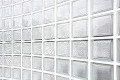 Glass block wall background Stock Images