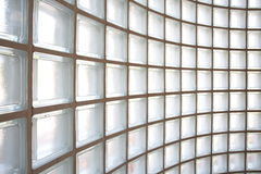 Glass block wall background Stock Photography