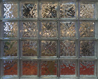Glass block wall decoration Stock Images