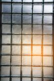 Glass Block Wall Detail Texture And Background Art In A Building. Royalty Free Stock Photo