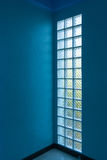 Glass block in wall Royalty Free Stock Image