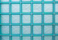 Glass Block Wall with White Mortar Royalty Free Stock Photo