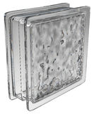 Glass block (wavy) Royalty Free Stock Photos