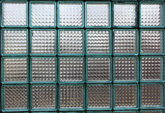 Glass blocks. Wall from glass a blocks Stock Images