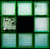 Glass blocks. Scheme-window from  Details of the production interior royalty free stock photo