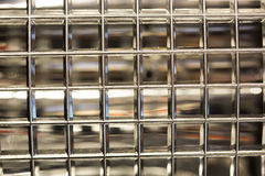 Glass blocks simple wall economy. Pattern of seamless glass block wall Royalty Free Stock Photography