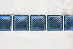 Glass blocks and wall Royalty Free Stock Images